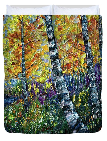 Glimpses Of Colorado Fall Colors Duvet Cover