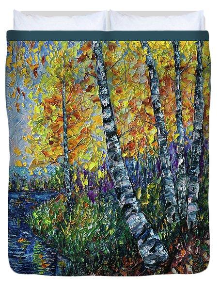 Glimpses Of Colorado Fall Colors Duvet Cover
