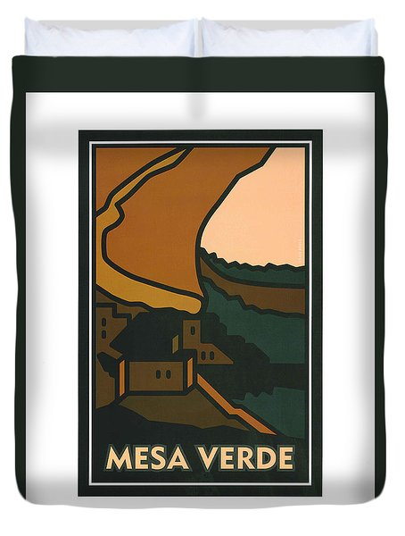 Colorado Mesa Verde Duvet Cover