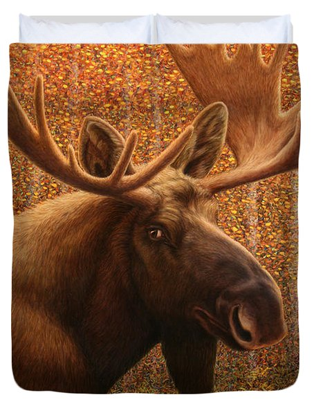 Colorado Moose Duvet Cover by James W Johnson