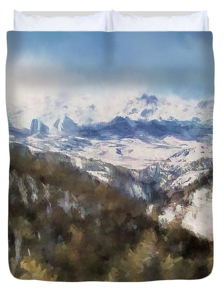 Colorado Mountains 4 Landscape Art By Jai Johnson Duvet Cover
