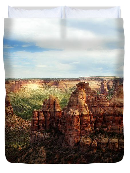 Colorado National Monument Duvet Cover by Marilyn Hunt