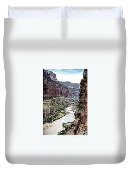 Colorado River And The East Rim Grand Canyon National Park Duvet Cover