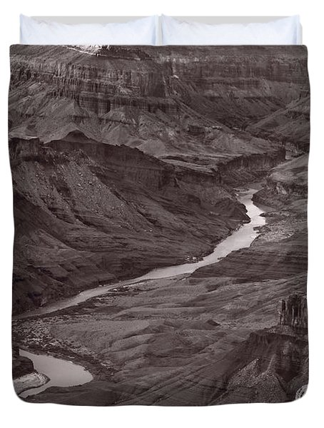 Colorado River At Desert View Grand Canyon Duvet Cover by Steve Gadomski