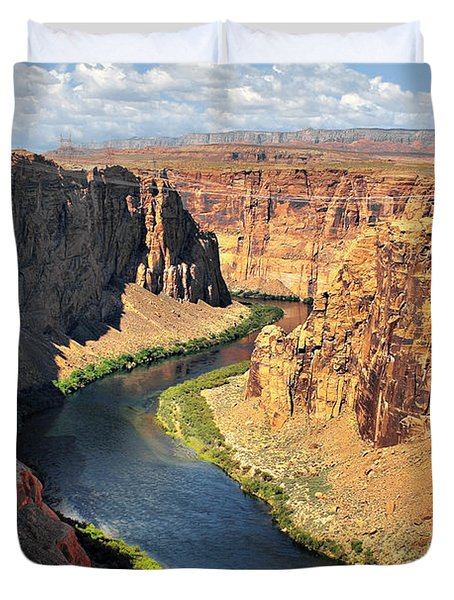 Colorado River At Marble Canyon Az Duvet Cover by Christine Till