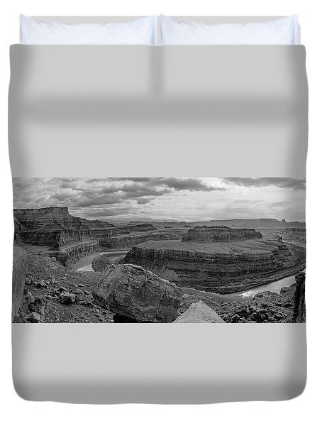 Colorado River Gooseneck Pano Duvet Cover