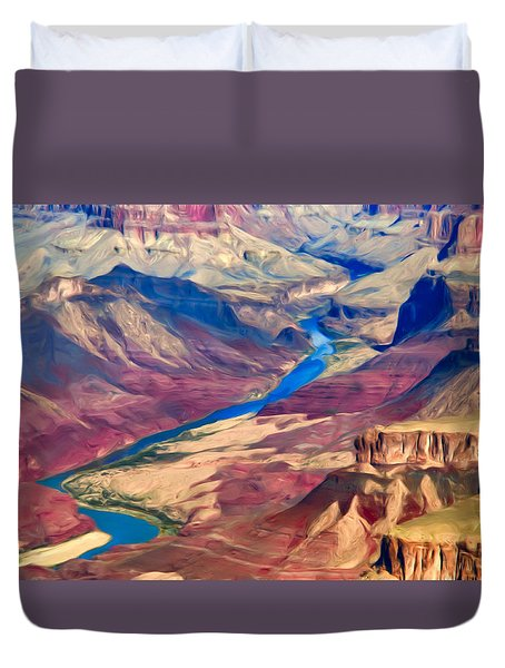 Colorado River In Grand Canyon Duvet Cover
