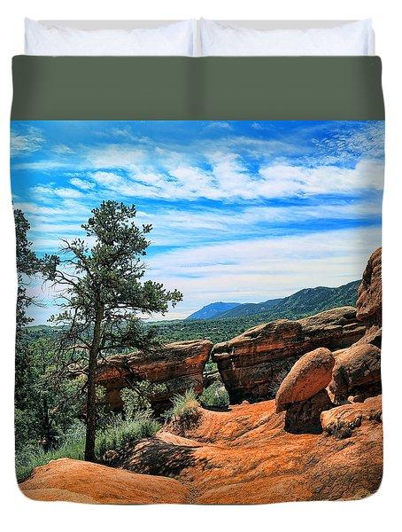 Colorado Rocks Duvet Cover