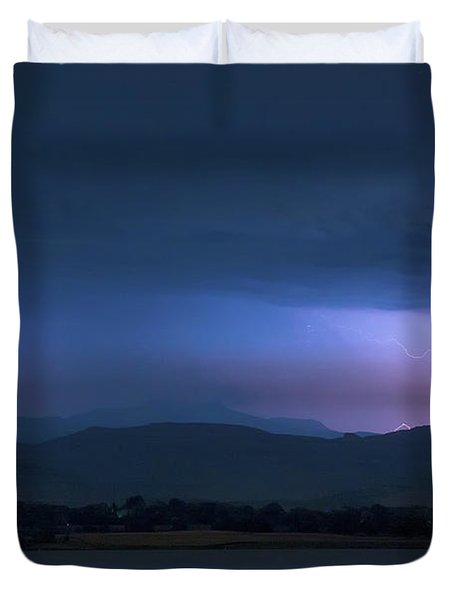 Colorado Rocky Mountain Foothills Storm Duvet Cover