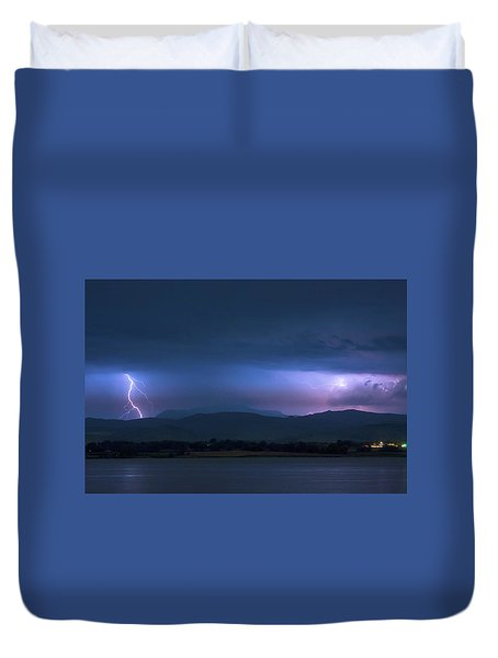 Duvet Cover featuring the photograph Colorado Rocky Mountain Foothills Storm by James BO Insogna