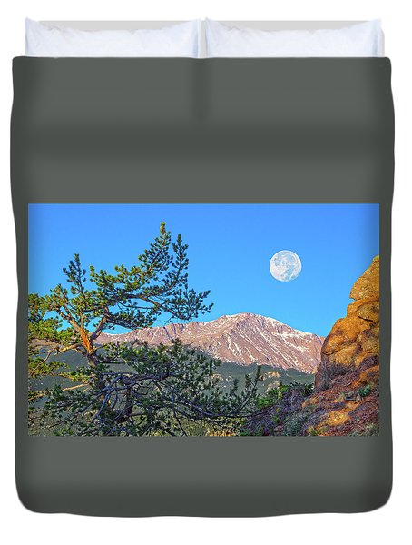 Colorado Rocky Mountain High, Just A Breath Away From Heaven Duvet Cover