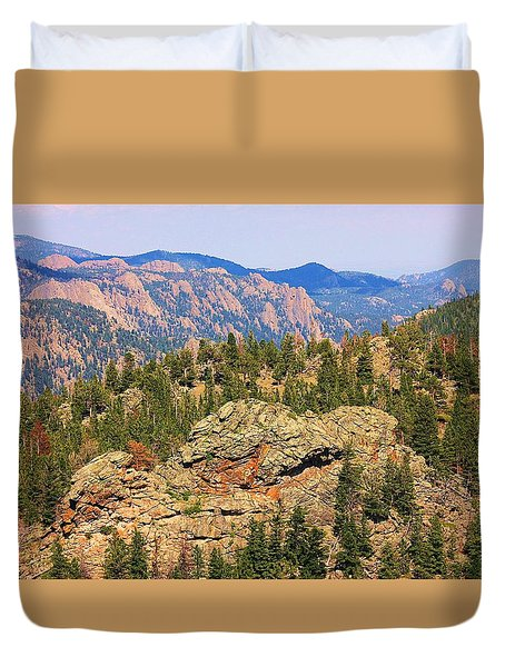 Duvet Cover featuring the photograph Colorado Rocky Mountains by Sheila Brown