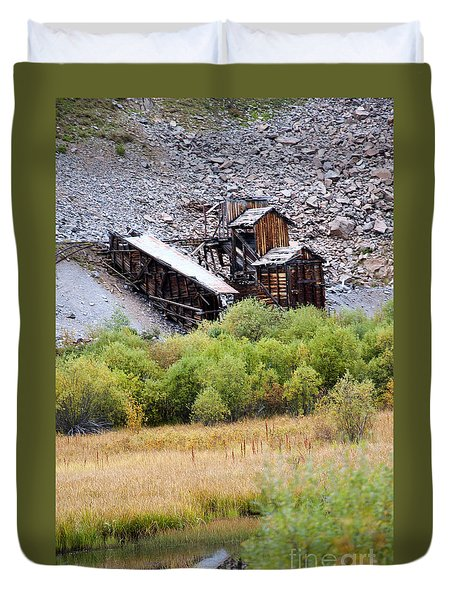 Colorado Silver Mine  Duvet Cover