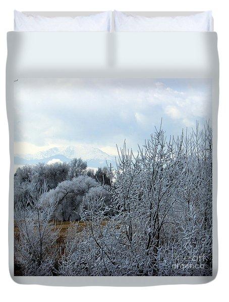 Colorado Springs Winter Duvet Cover