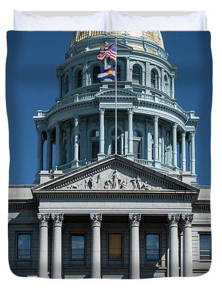 Colorado State Capitol Duvet Cover