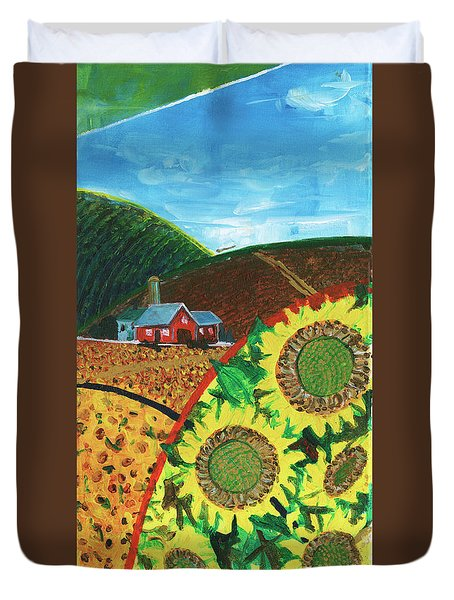 Colorado Sunflowers Duvet Cover