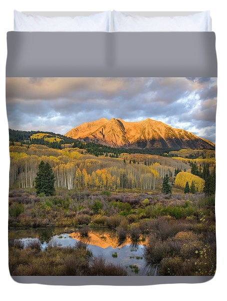 Colorado Sunrise Duvet Cover by Phyllis Peterson
