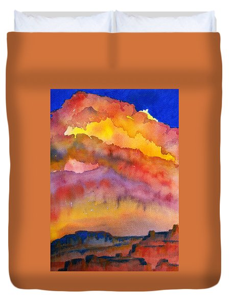 Colorado Sunset Duvet Cover