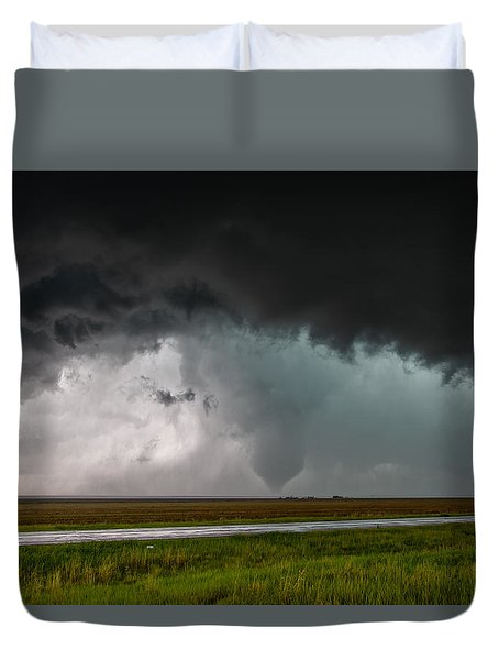 Duvet Cover featuring the photograph Colorado Tornado by James Menzies