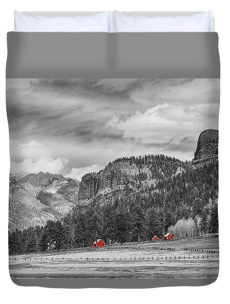 Colorado Western Landscape Red Barns Duvet Cover by James BO  Insogna