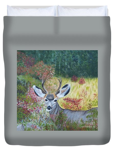 Colorado White Tail Deer Duvet Cover