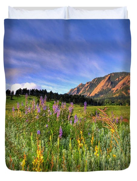 Colorado Wildflowers Duvet Cover