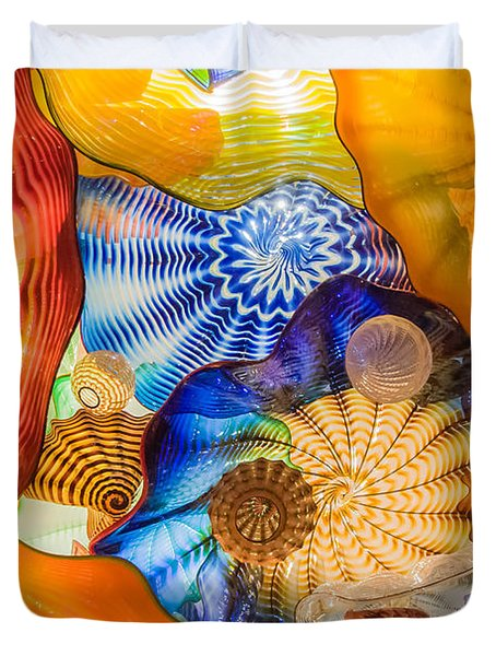 Colored Glass Duvet Cover by Roger Mullenhour