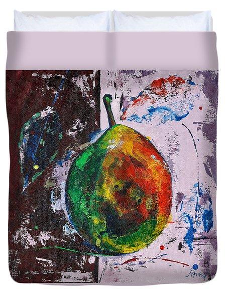 Colored Juicy Fruit Duvet Cover