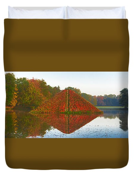 Colored Lake Pyramid Duvet Cover