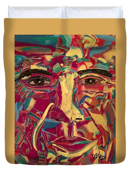 Colored Man Duvet Cover