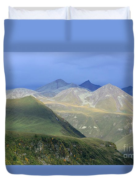 Colored Peaks Of The Caucasus Duvet Cover