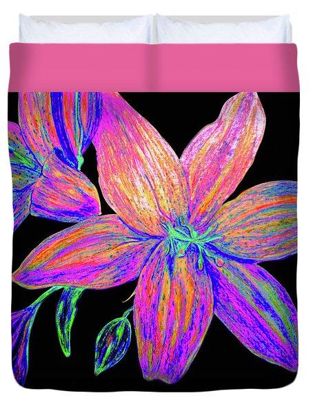 Colored Pencil Flower  Duvet Cover