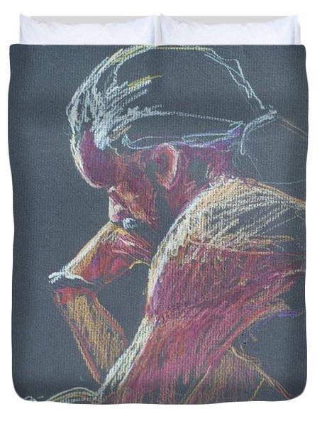 Colored Pencil Sketch Duvet Cover