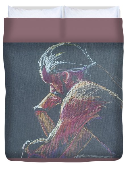 Colored Pencil Sketch Duvet Cover