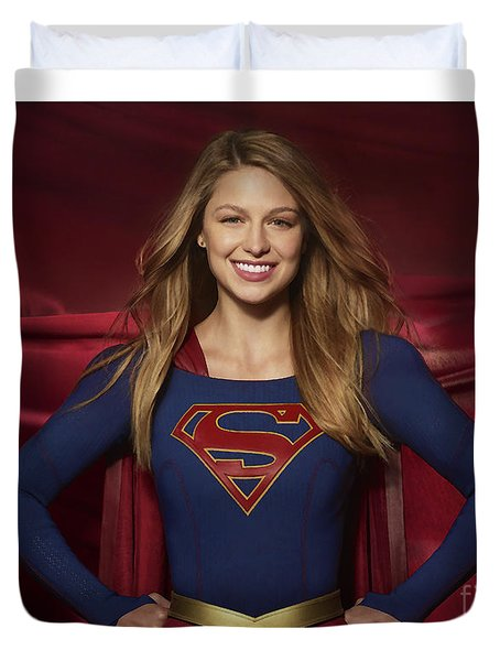 Colored Pencil Study Of Supergirl - Melissa Benoist Duvet Cover