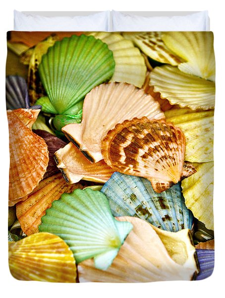 Colored Shells Duvet Cover by Marilyn Hunt