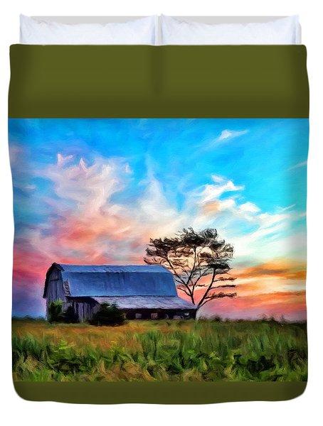 Colored Sunrise Duvet Cover