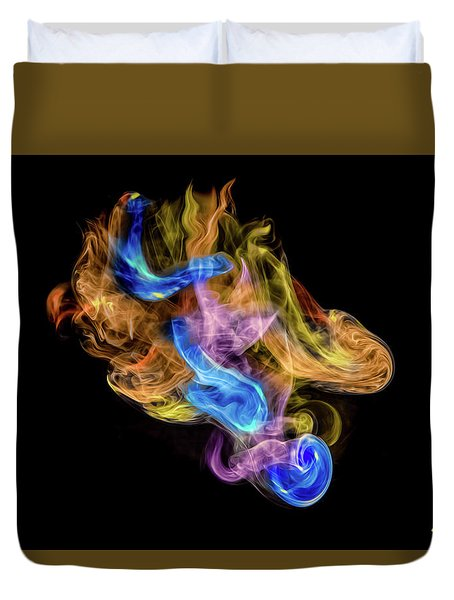 Duvet Cover featuring the photograph Colored Vapors by Rikk Flohr