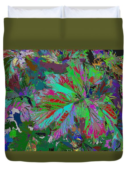 Colorfication - Leafy Colored Duvet Cover