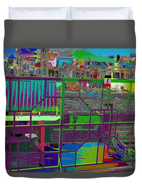 colorfication of Chinatown  Duvet Cover