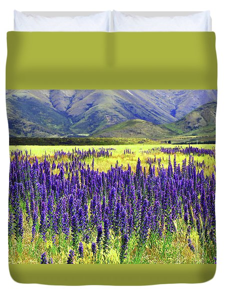 Colorfield Of Viper's Buglosss Duvet Cover