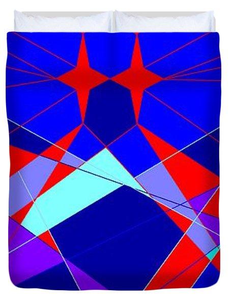 Colorful 1 Duvet Cover by Linda Velasquez