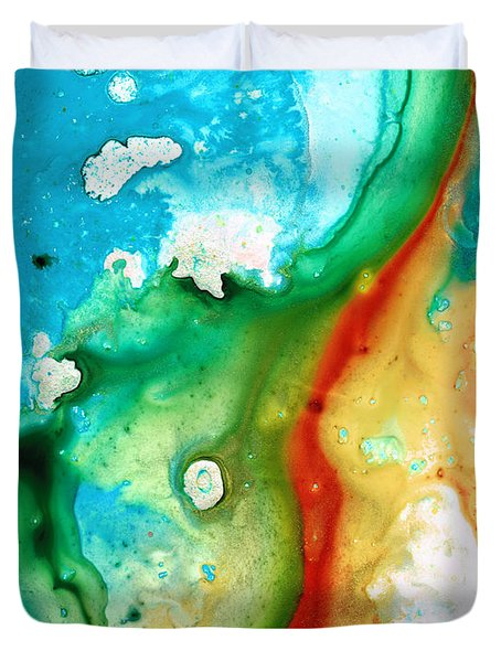 Colorful Abstract Art - Captured - By Sharon Cummings Duvet Cover