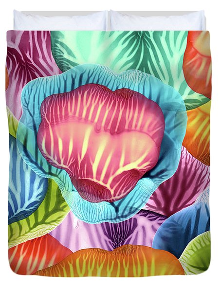 Colorful Abstract Flower Petals Duvet Cover