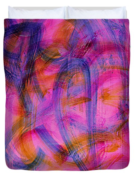 Colorful Abstract Duvet Cover by Natalie Holland