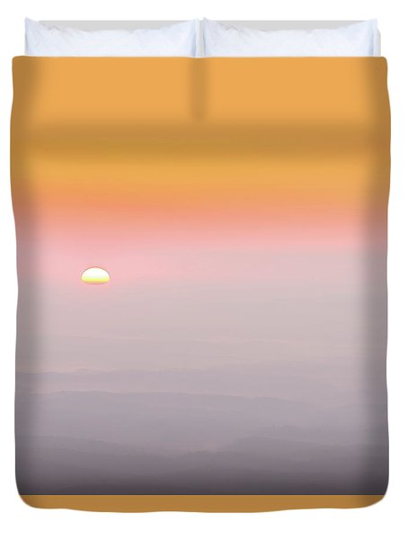 Colorful And Smoky Carolina Sunrise Duvet Cover by Serge Skiba