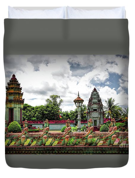 Colorful Architecture Siem Reap Cambodia  Duvet Cover