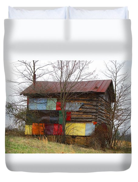 Colorful Barn Duvet Cover