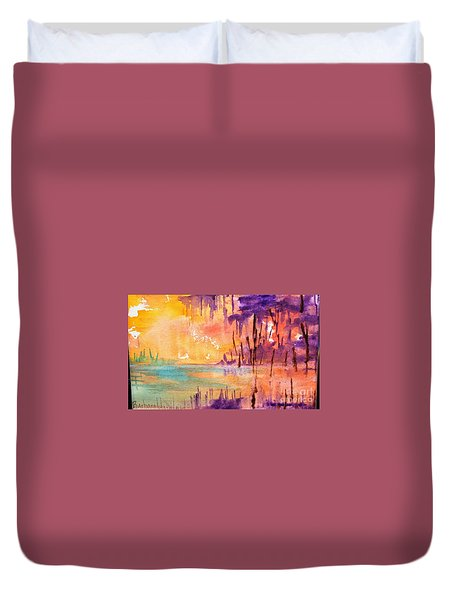 Colorful Bayou Duvet Cover