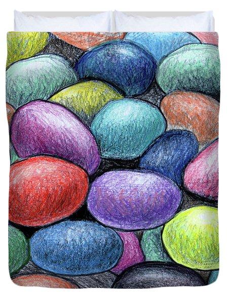 Colorful Beans Duvet Cover by Nancy Mueller